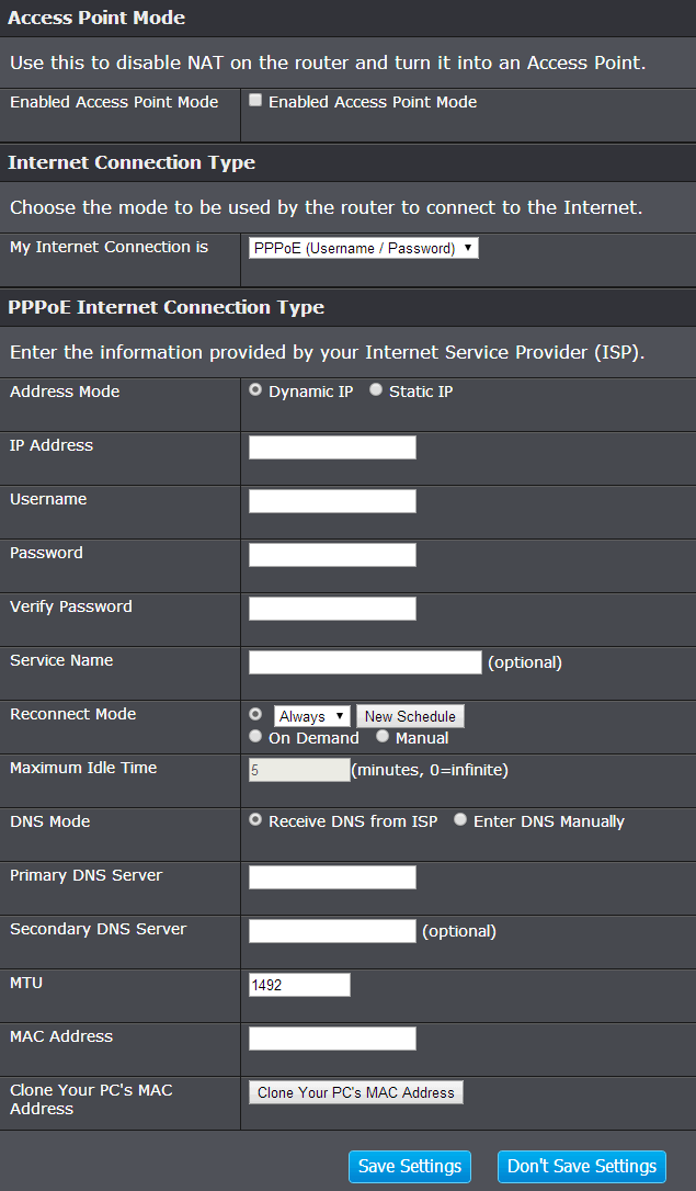 pppoe add Trendnet